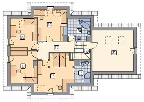 Rzut poddasza POW. 138,8 m²