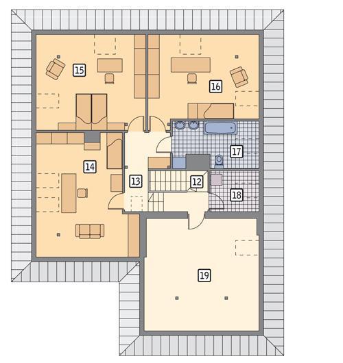Rzut poddasza POW. 150,0 m²