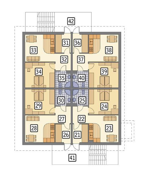 Rzut poddasza POW. 199,1 m²