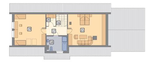 Rzut poddasza POW. 101,4 m²