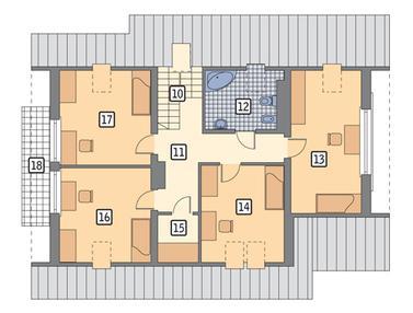 RZUT PODDASZA POW. 68,4 m²