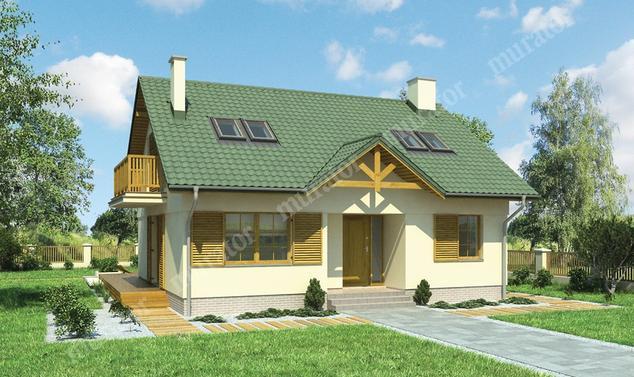 Projekt domu:  Murator M164   – Złote runo